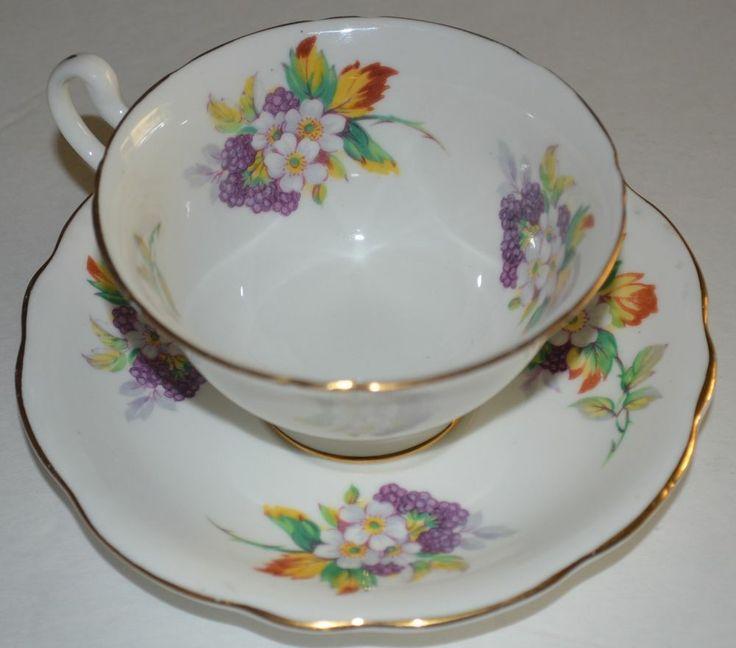 Heathcote, Bone China, Tea cup and saucer #Heathcote
