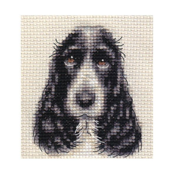 COCKER SPANIEL dog ~ Full counted cross stitch kit, all materials in Collectables, Animals, Dogs | eBay