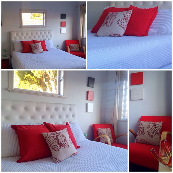 Red waffle bedroom styles contemporary small bedroom colourful
