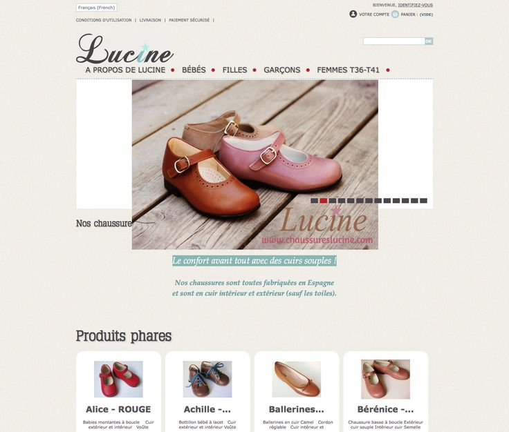 http://www.chaussureslucine.com  French classic shoes for children