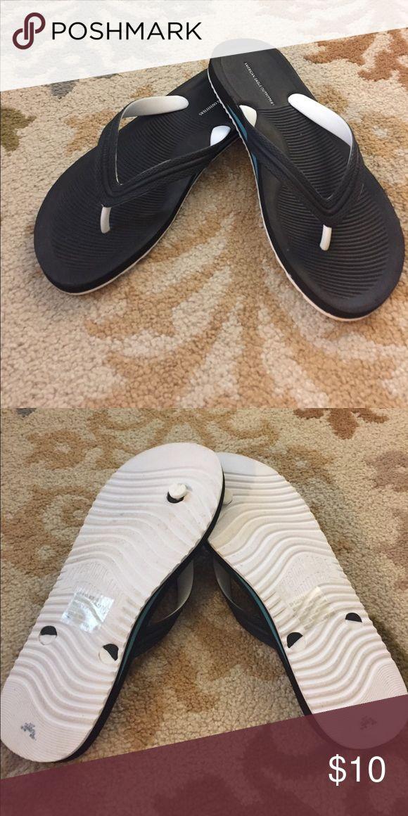 AE flip flips. Never worn outside AE flip flips. Never worn outside American Eagle Outfitters Shoes Sandals & Flip-Flops