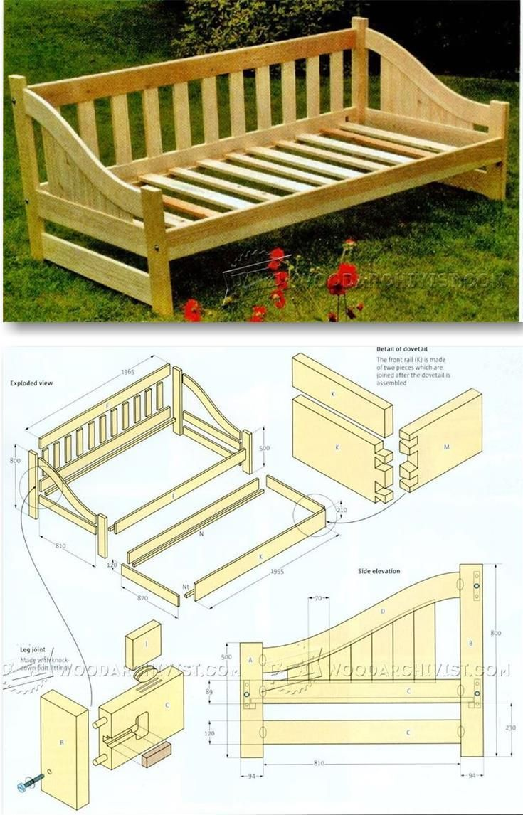 Gazunda Bed Plan - Furniture Plans and Projects | WoodArchivist.com