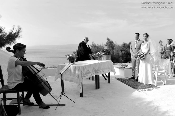 Charlotte & Clement romantic wedding, Plakes Vlychou Hydra Island Greece