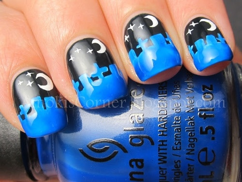 Cemetery Nails.  ...I do not have a steady enough hand for this!
