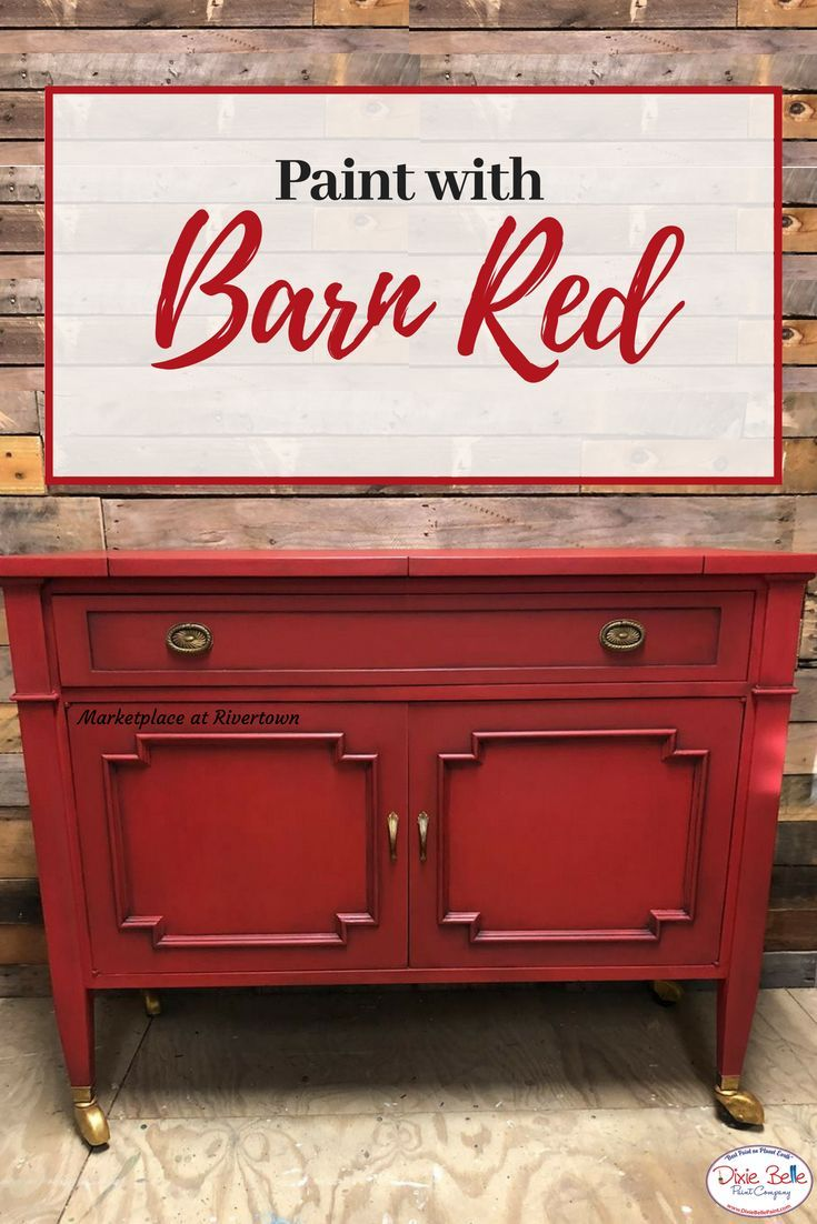 Do You Love A Bright Vibrant Red Try Dixie Belle Paint In Barn Red This Color Is So Bri Distressed Furniture Diy Red Painted Furniture Painting Furniture Diy
