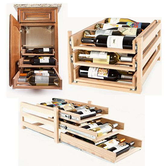 Wine Cellar Cabinet: Perfect for wine-loving neat freaks, Wine Logic offers a solution for tucking away an entire case while still keeping it accessible.