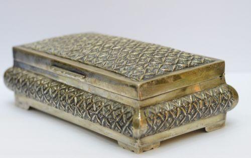 Vintage-Silver-900-Large-Box-Trinket-Box-9-56-Oz-271-Grams