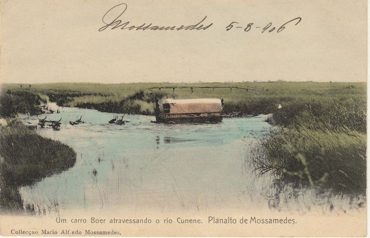 Dorsland Trekkers fording the Cunene Southern Angola