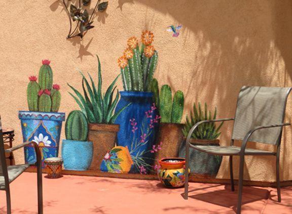 Outdoor Garden Wall Murals Ideas