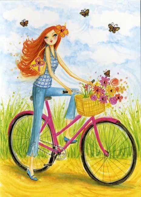 Bella Pilar y bicicleta