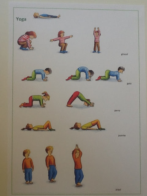 Йога для детей упражнения в картинках