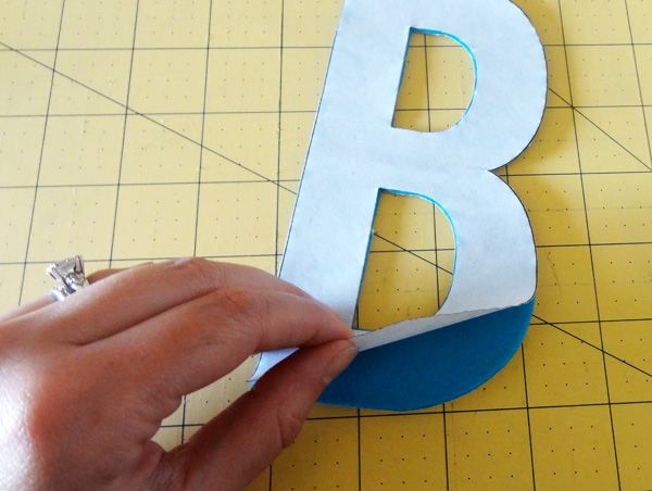How to cut out felt letters