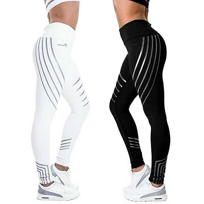 CFR New High Waist Leggings Casual Workout Active Sport Yoga Pants Ankle-Length Nine Pants Stretch Skinny Tights Black,S USPS Post: Amazon.ca: Clothing & Accessories