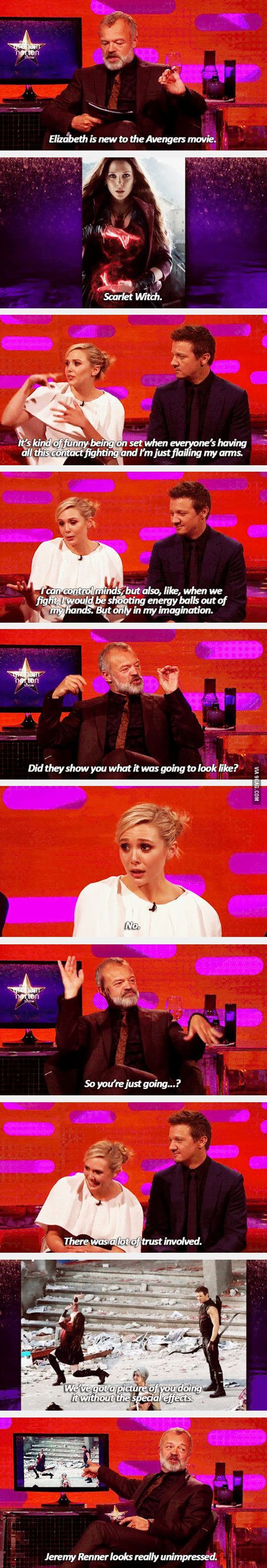 elizabeth olsen The Power of Special Effectsツ Humor Funny Lol
