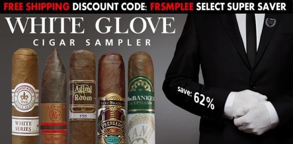 White Glove Cigar Sampler 10 cigars