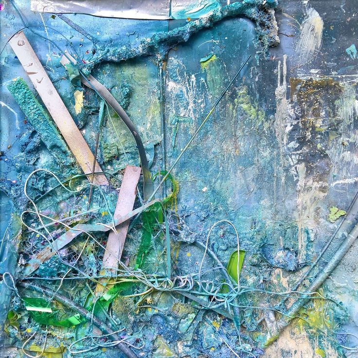 Blue abstract art by Robert Anderson
