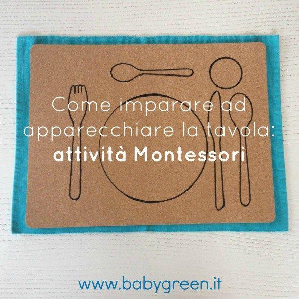 Come imparare ad apparecchiare la tavola: attività Montessori