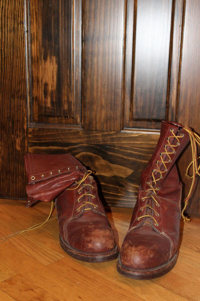 J H Hall Lineman S Boots Size 10 1 2 D Used Pinterest