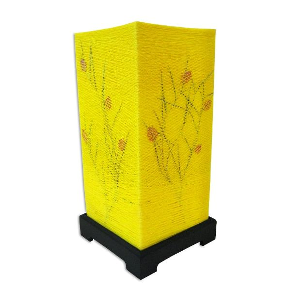 Yellow Cotton Japanese Lamp - Rs.749.50