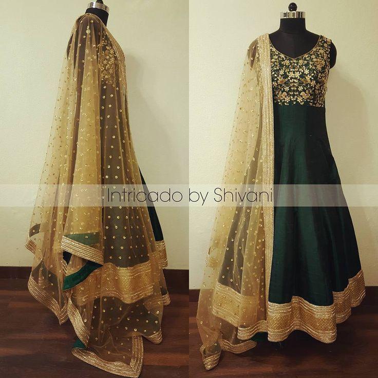 For enquiry/order, shivani@intricado.com or Inbox on Facebook page www.facebook.com/intricado or Whatsapp:- +91 8527463626  #couture #anarkali #greenanarkali #indianbridal #indianwedding #indiancouture #indianethnic #wedding #indianbride #delhiwedding #hinduwedding #punjabiwedding #fashionblogger #indianfashionblogger #indiandesigner #delhi #indianjewellery #intricadobyshivani #desibride #shaadi #zardozi #kundan #gotapatti #USA #UK #australia #canada #ootd