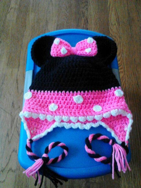 Minnie Mouse Hat by NettsClipsNCrochet on Etsy, $18.00