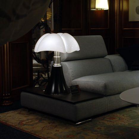 Martinelli Luce PIPISTRELLO - Lampe Noir pied télescopique H66-86cm