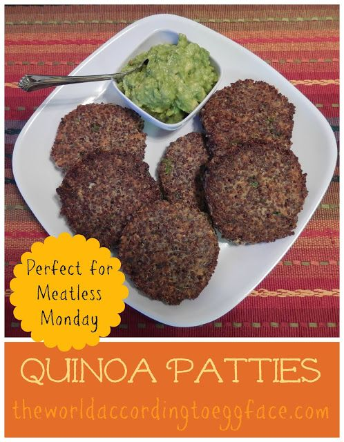 "The World According to Eggface Quinoa ""Burger"" Patties for Meatless Monday"