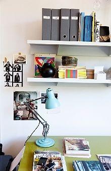 lampDarryl Ward, Mint Green, Katy Lockhart, Home Workspaces, House Interiors, Wall Shelves, Inspiration Workspaces, Design Offices, Desks Workspaces