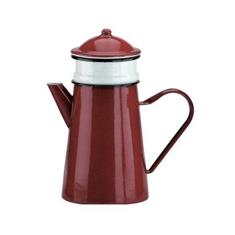 cafetera con filtro de peltre rojo (1.5 L) IBILI – dcocina
