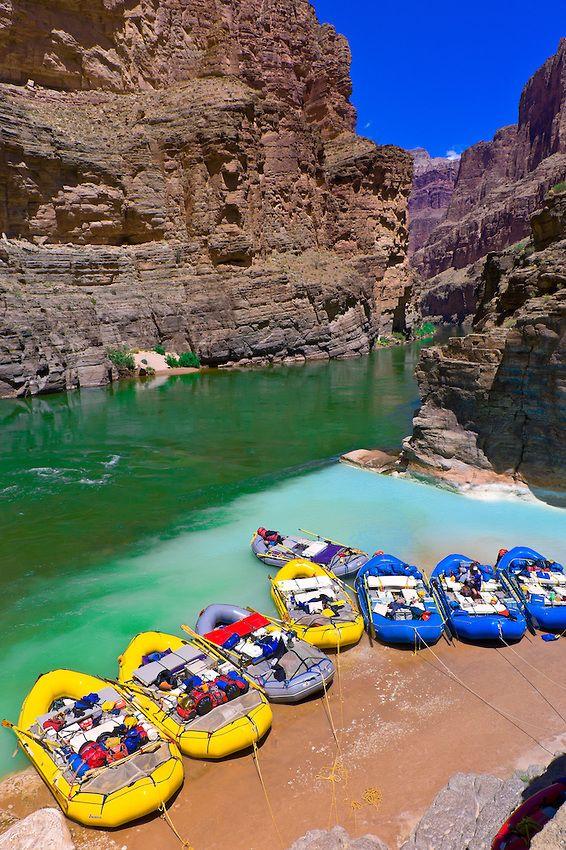 Confluence of the Colorado River and Havasu Creek ...