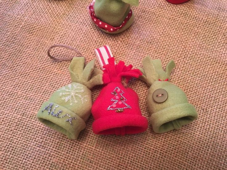 """These are so adorable, I'm making them for my Christmas tree"" - mini fleece hat ornaments."