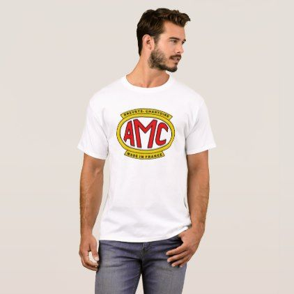 VINTAGE AMC FRENCH MOTORCYCLE SHIRT - individual customized unique ideas designs custom gift ideas