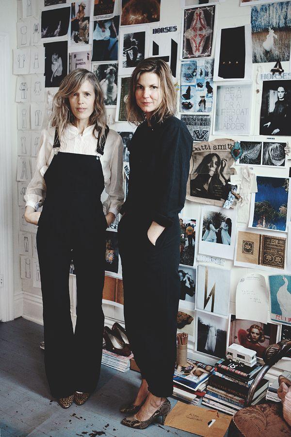 Black overalls white blouse | Working dress | Horses Atelier