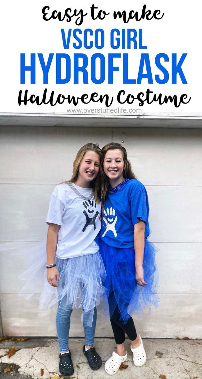 easy diy vsco girl hydroflask costume  halloween costumes