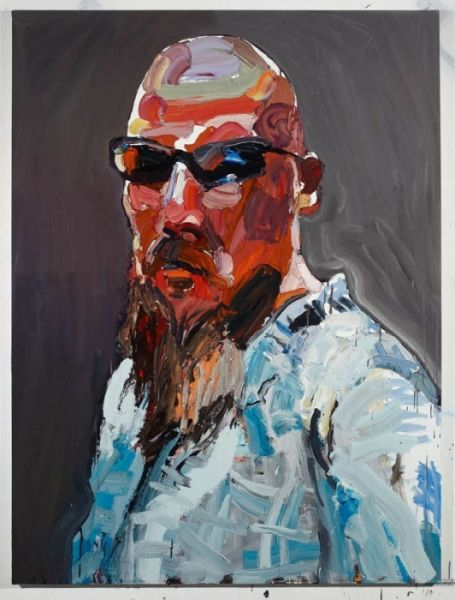 """Ben Quilty """"The Evo Project No. 13 (Evo)"""" 2011 oil on linen 190 x 140 cm"""