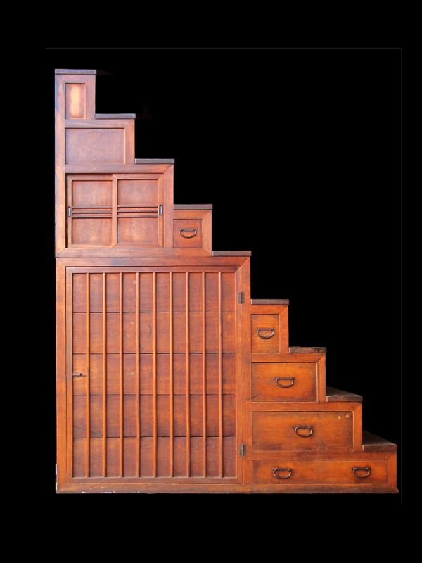 Large Step ChestDecor, Large Tansu, Large Step, Step Chest, Japanese Step, Tansu Step, Tansu Chest, Large Japanese, Stairstep Tansu