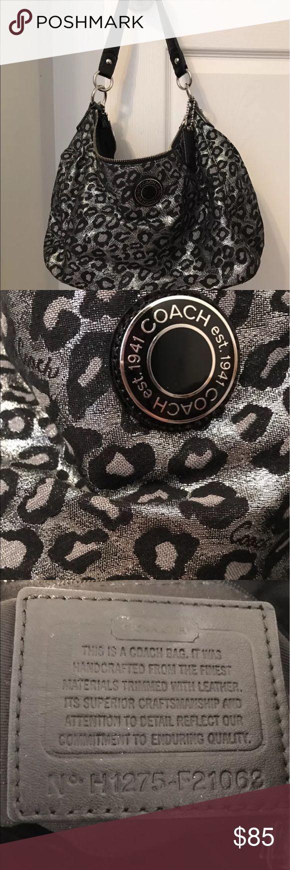 Coach Purse Coach black leopard print bag Coach Bags Shoulder Bags