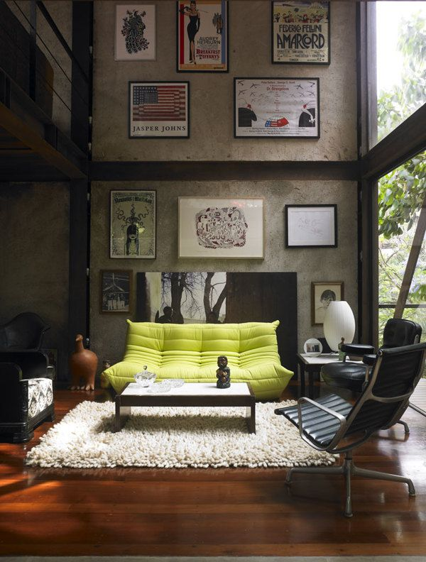 sweet designer couches. Gallery wall with lime green sofa  32 best zen images on Pinterest Couches Armchairs and Canapes