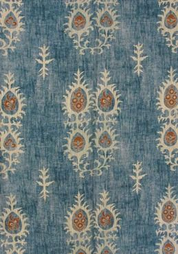 100% Linen Fabric in Tribal Print | Lewis and Wood | Fashionable and eye catching choice for curtains and upholstery