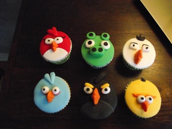 Angry Birds :)Cupcakes Ideas, Birds Cupcakes, Birthday Parties, Birds Birthday, Cupcakes Animados, Parties Ideas, Birds Parties, Angry Birds, Birthday Ideas