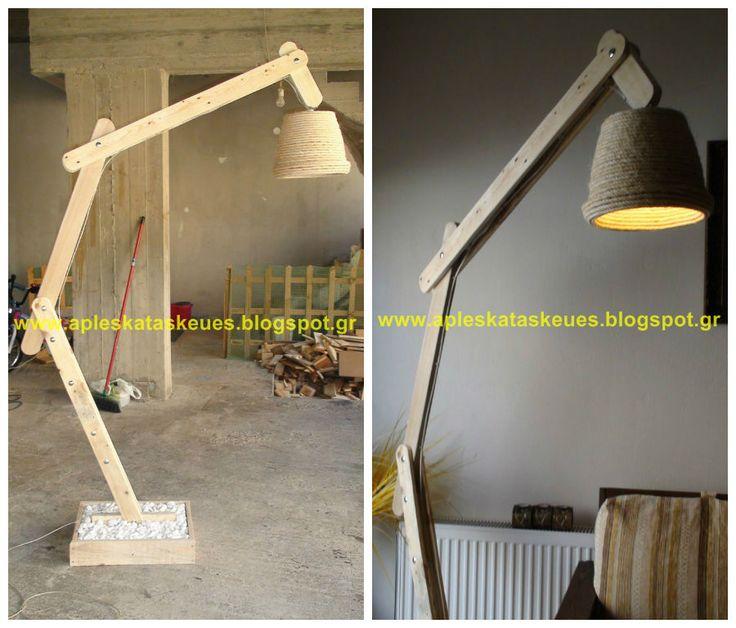 Pallet floor lamp by Alex
