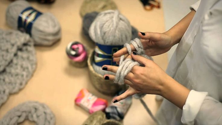 Finger Knitting with ALİZE Country  #Schusse # Wefts