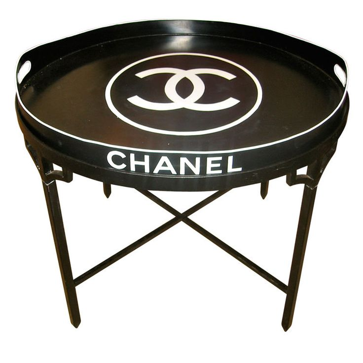 Chanel tray table: Trays Tables, Chanel Tables, Tops Tables, Chanel Trays, Trays Tops, Chanel Shops, Paris Chanel, Chanel Logos, Logos Trays