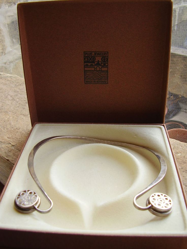 RARE Anna Greta Eker Plus Studios Norway Silver Torque Necklace in Plus Box | eBay