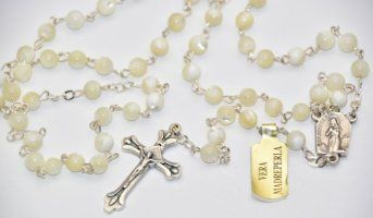 Mother of Pearl Rosary.