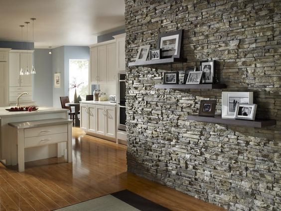 Interior Inspiration Living Room Hallway Kitchen Stone Picture Wall Feature