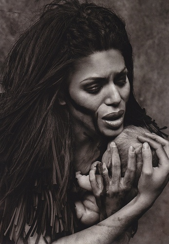 Merle Dandridge as Kala discovers the infant Tarzan and adopts him as her own in Disney's musical TARZAN.