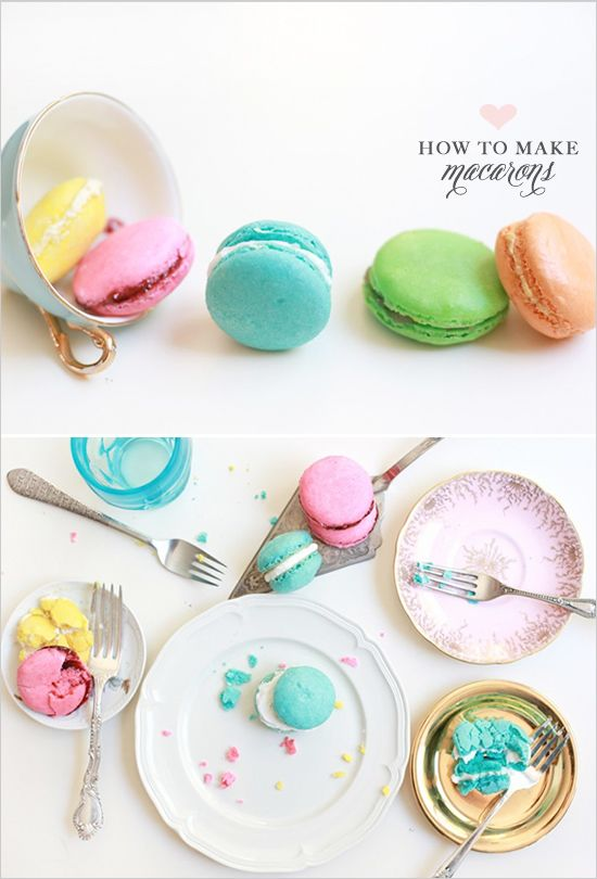 Macaron Recipe for the chewy, delicious French cookie that are truly a sweet treat. http://www.weddingchicks.com/2011/10/28/how-to-make-macarons/