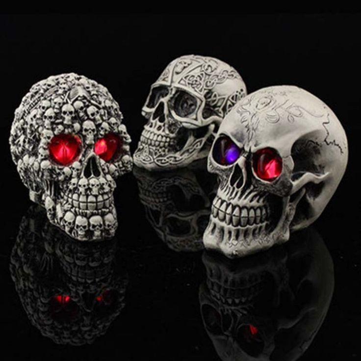 Halloween party Club bar assustador cabeça do crânio da decoração LED night light novidade thrick brinquedo presente de incandescência adereços em Decoração de festa de Casa & jardim no AliExpress.com | Alibaba Group