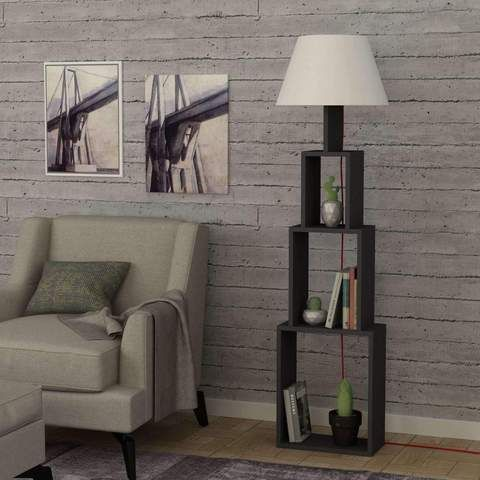 97 best lighting floor lamps bookcases with lights images on pinterest unique floor lampbookshelf floor lamp limited time offer grey brown aloadofball Images